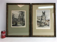 Paul Geissler Hand Colored Signed Lithographs