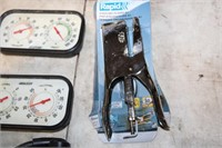 TRAY- 2 THERMOMETERS, VOLT METER  -