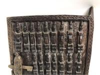 Antique Nigerian African Carved Wood Gate Door