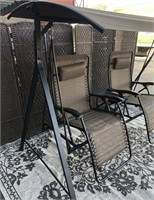 C - NEW COVERED SWINGING/RECLING PATIO CHAIRS