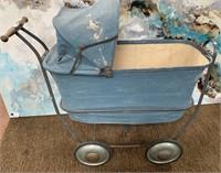 335 - VINTAGE BLUE BABY BUGGIE