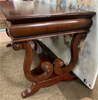 714 - STUNNING SOLID WOOD DESK W/ DRAWER