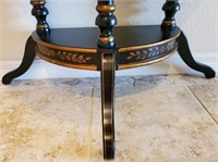 76 - STUNNING BLACK/GOLD MOON SHAPE ENTRYWAY TABLE