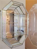 76 - GORGEOUS MIRROR/GLASS WALL SHELF