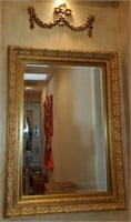 76 - BEAUTIFUL FRAMED MIRROR & TOPPER RIBBON