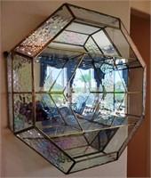 76 - GORGEOUS MIRROR/GLASS DISPLAY WALL SHELF