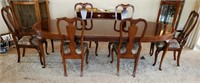 76 - STUNNING DREXEL HARRITAGE TABLE W/6 CHAIRS