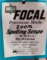 76 - FOCAL PRECISION MADE ZOOM SPOTTING SCOPE