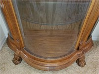 76 - STUNNING CURVED GLASS CURIO CABINET