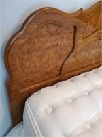 76 - BEAUTIFUL KING BED & DRESSER W/MIRROR