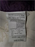 76 - BEAUTIFUL LARGE PURPLE/BLUE QUILT COMFORTER