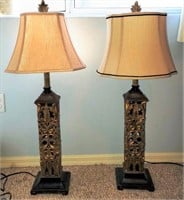 76 - PAIR OF MATCHING TABLE LAMPS