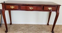 76 - BEAUTIFUL ENTRYWAY TABLE W/ 3 DRAWERS