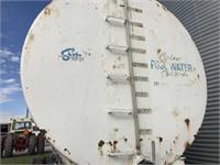 5000 Gal. Steel Water Tank on Frame w/Tandem Axles