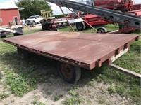 15ft x 7ft Steel Deck Flat Rack Wagon