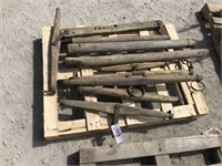 Skid of Wooden Neck Yoke and Whipple Tree Parts