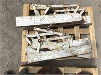 Skid of Row Crop Cultivator Shields