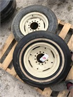 Pair of E78-14 Tires and Rims
