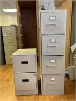 (1) 4 drawer filing cabinet and (1) 2 drawer