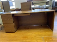 "Large wood desk with attachment 72"" x36x30"