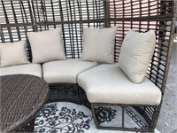 C - NEW 8 PERSON PATIO SECTIONAL W/ROUND TABLE