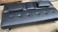 C - NEW BEAUTIFUL COUCH/ FUTON W/ CUP HOLDERS