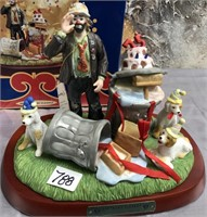 788 - SIGNED EMMETT KELLY CLOWN FIGRINE W/BOX