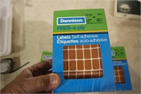 3 BOXES BROWN STICKERS