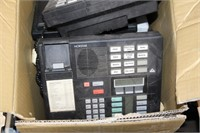 BOX OF APPROX 7 TELEPHONES