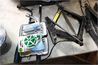 2 WHEEL WRENCHES & CASE W/VARIOUS DRILL BITS