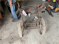 Torch Cart on Steel Wheels w/Hoses and Gauges
