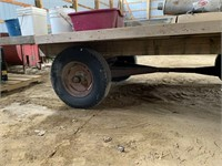 12ft x 8ft Flat Rack on John Deere Wagon