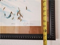 31 - SIGNED/NUMBERED SNOWY DAY WALL ART