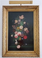 31 - SIGNED/FRAMED STILL LIFE FLOWERS WALL ART