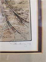 31 - SIGNED/FRAMED/MATTED BOATS IN THE HARBOR ART