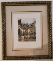 31 - FRAMED/MATTED WELCOME HOME ART