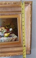 31 - SIGNED/FRAMED STILL LIFE OF FRUIT WALL ART