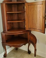 31 - ANTIQUE CORNER STORAGE CABINET - SEE PICS