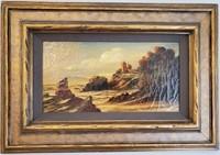 31 - BEAUTIFUL FRAMED/SIGNED MOUNTAIN SCENE ART