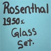 335 - STUNNING ROSENTHAL 1950'S GLASS SET