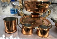 335 - LOT OF COPPER/BRASS KITCHEN ITEMS