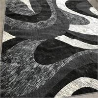 43 - NEW WMC BLACK/GREY 8 X 10 AREA RUG (3)
