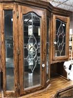 335 - BEAUTIFUL WOOD W/GLASS FRONTS CHINA HUTCH