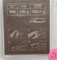 100 X 1G .999 SILVER BARS - SEE PICS (21)