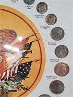 50 - FRAMED UNITED STATES 20TH CENTURY COINS