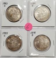 LOT OF 4 SILVER MORGAN DOLLARS - SEE PICS (6)
