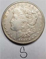SET OF 3 SILVER MORGAN DOLLARS (13)