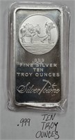 TEN TROY OUNCES .999 FINE SILVER (19)