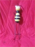 Bumblebee metal yard ornament 1 foot tall.
