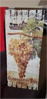 2 Large Grape Wooden Decor pictures Winery Wine